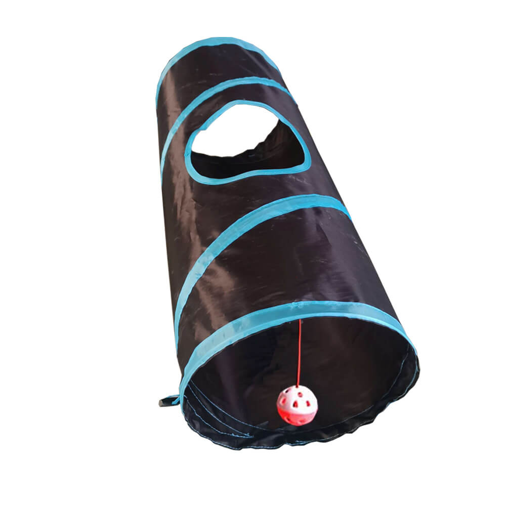 Collapsible Cat Play Tunnel Cat Toy Foldable Hideaway Cat Tunnel Pet Play Tube with Ball