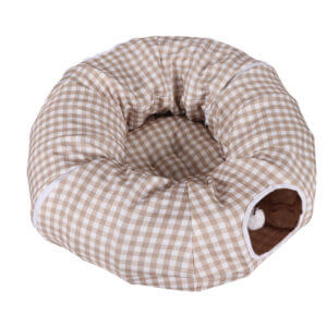 Cat Tunnel Tube with Removable Mat Cat Tunnel Bed with Cushion
