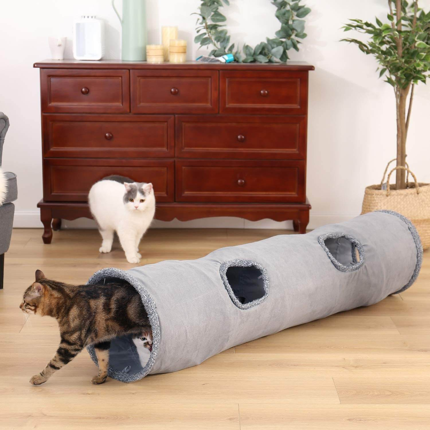 Pet Collapsible Cat Tunnel Factory