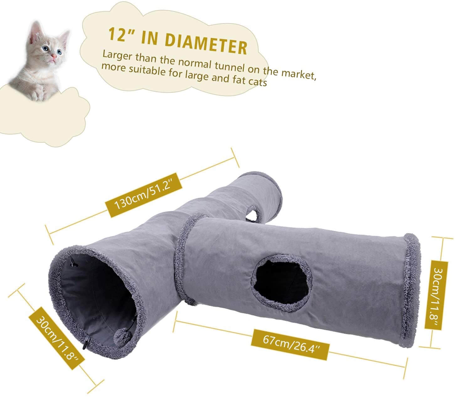 Pet Collapsible Cat Tunnel wholesale
