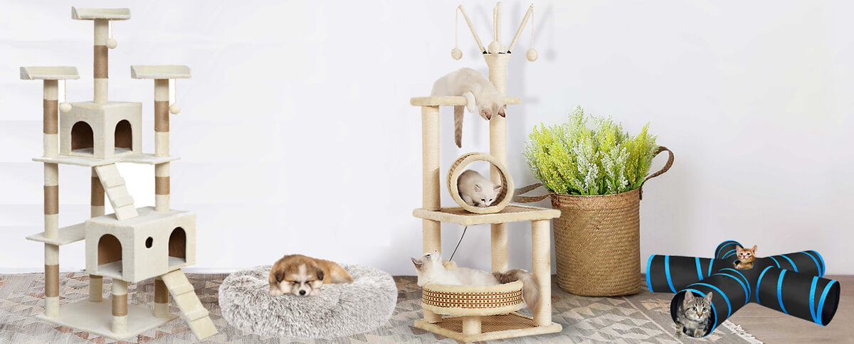 cat tree manufacturer cat play tunnel pet bed factory