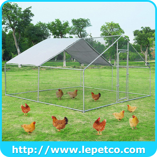 Outdoor large metal walk in poultry cage chicken runs for yard with cover large chicken coop